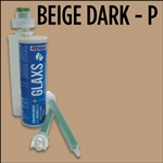 Glaxs Beige Dark Porcelain/Ceramic Glue Cartridge Part# 1RGLAXSCBEIGEDARK