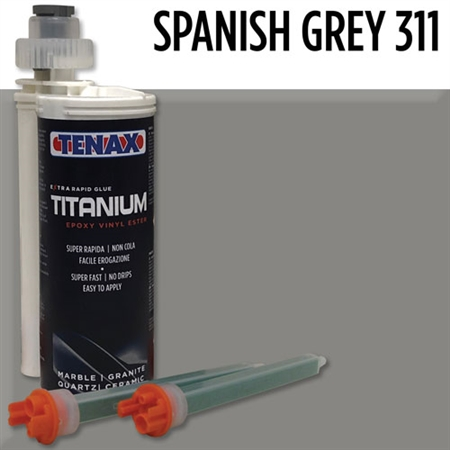 Spanish Grey Titanium Extra Rapid Cartridge Glue #1RTSPANISHGREY