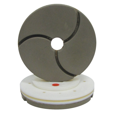 "Tenax 6"" Snail Lock Bullnose Quartz Automated Edge Polishing Wheel 220 W"