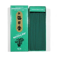 NIPPON KODO | MORNING STAR Incense - CEDARWOOD 200 sticks