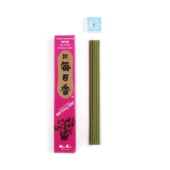 MORNING STAR Incense - ROSE 50 sticks (12pkgs/box) | NIPPON KODO WHOLESALE Japanese Quality Incense Since 1575