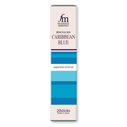 NIPPON KODO | Fragrance Memories - CARIBBEAN BLUE - INCENSE - Bougainvillea, Cattleya, Papaya - 20 sticks