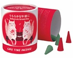 NIPPON KODO | CAFE TIME - BRIGHT AFTERNOON - CONE INCENSE - Cherry blossom & Green tea - 10 cones