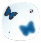 NIPPON KODO | YUME-NO-YUME (The Dream of Dreams) - INCENSE BURNER ( PLATE ) - BUTTERFLY