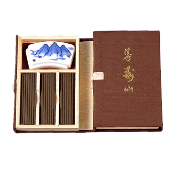 NIPPON KODO | JINKOH JUZAN - SHORT STICK INCENSE W/HOLDER - ALOESWOOD - 60 sticks