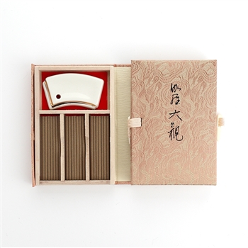 NIPPON KODO | KYARA TAIKAN - SHORT STICK INCENSE W/HOLDER - PREMIUM ALOESWOOD - 60 sticks