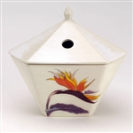 NIPPON KODO | Yukari Incense Burner - A bird of paradise flower / White