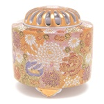 NIPPON KODO | Deco - JAPANESE INCENSE BURNER - Ceramic burner / Gold & Flower