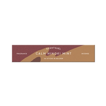SCENTSUAL - Calm Hinoki Mint 30 sticks (case pack qty -12)