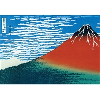 NIPPON KODO | Red Fuji - Japanese Art Blank Card (10 pcs.).