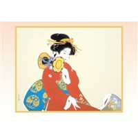 NIPPON KODO | Sound of the drum - Japanese Art Blank Card (10 pcs.).