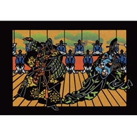 NIPPON KODO | Kabuki theater (Laser cut) - Japanese Art Blank Card (10 pcs.).