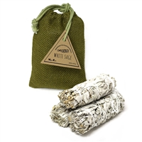 White Sage - 3pcs  - POSITIVE ENERGY  |  Nippon Kodo - Quality Incense Since 1575