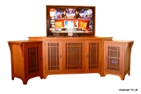 Mission Stickley TV Lift Corner Cabinet
