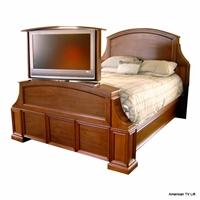 luxury end of bed tv lifts footboard pop up tv beds. Black Bedroom Furniture Sets. Home Design Ideas
