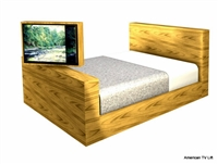 Modern Platform TV Lift Bed