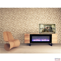 Modern Vail Fireplace TV Lift Cabinet
