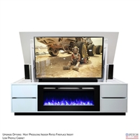 Modern Alto Fireplace TV Lift Cabinet