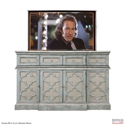 "French Country Clayton 55"" TV Lift Cabinet Choose Finish"