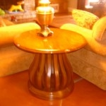 Mahogany Bird Cage End Table