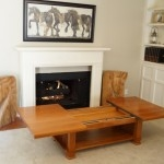 Cherry Mission Style Sliding Top Coffee Table[In Stock]