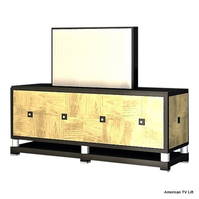 Modern Black Tie TV Lift Cabinet
