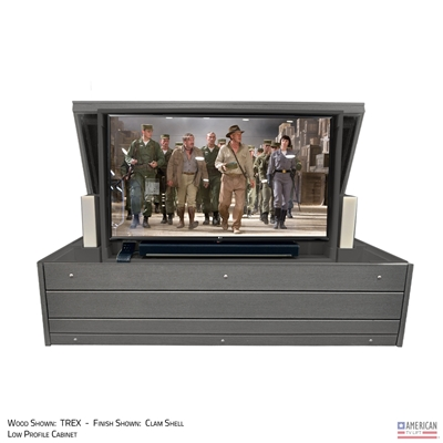 Modern Ironside Outdoor TV Lift Cabinet