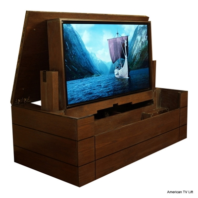 Ultra TV Lift Cabinet with Granite Top
