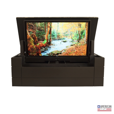 Modern Ultra TV Lift Cabinet with Granite Top