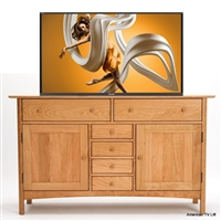 Transitional Mesa TV Lift Cabinet