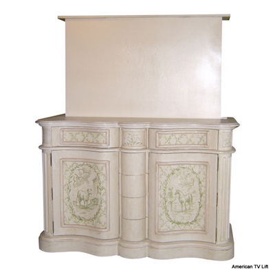 French Country Broussard TV Lift Cabinet