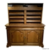 Traditional Old English Storage Case Lift Cabinet