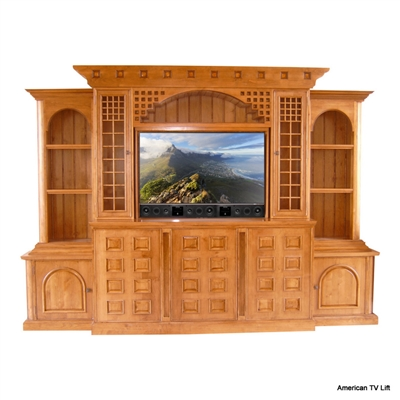 Rustic El Dorado Tv Lift Entertainment Center