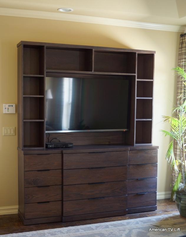 modern fine line tv lift dresser