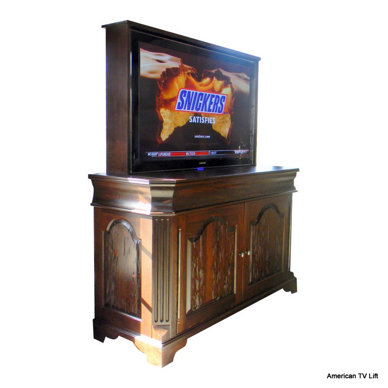 Old English Cathedral TV Lift Cabinet