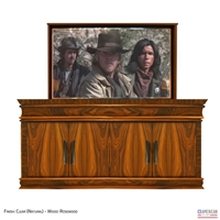Transitional Flint XL TV Lift Cabinet