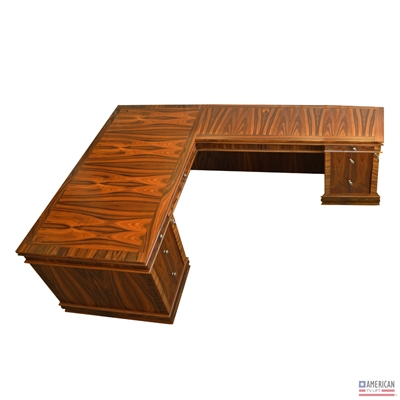 Transitional Dynasty L Shaped Desk