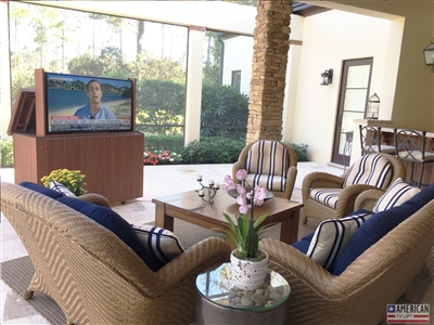 Modern Orlando Outdoor TV Lift Cabinet