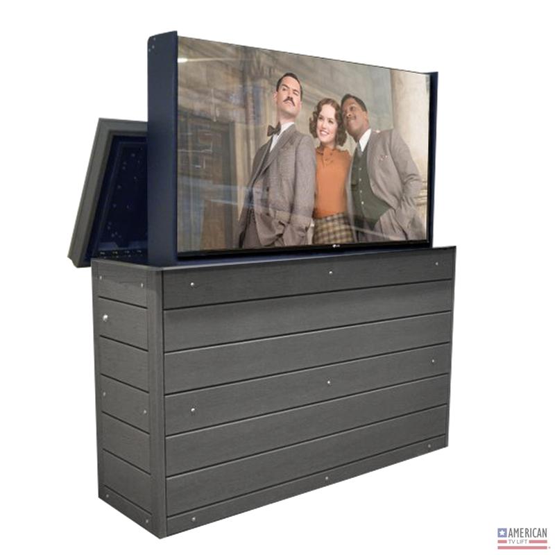 - Modern Ironside Outdoor TV Lift Cabinet