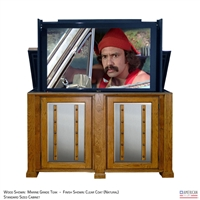 Transitional Maryland Outdoor TV Lift Cabinet