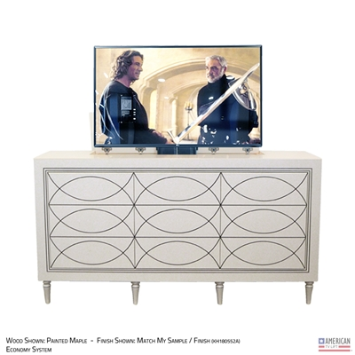 Transitional Minnesota TV Lift Cabinet