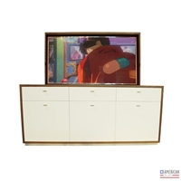 Modern Latte TV Lift Cabinet