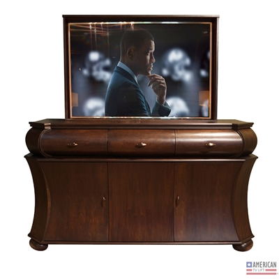 Transitional Roman TV Lift Cabinet