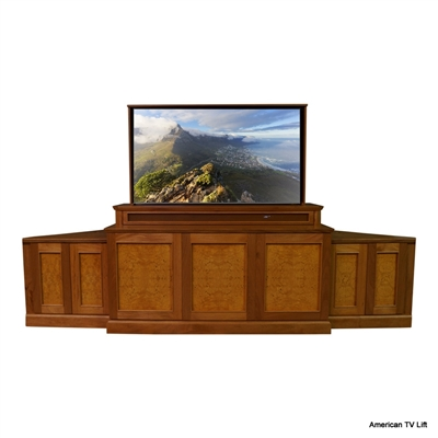 Transitional Bonita Corner TV Lift Cabinet