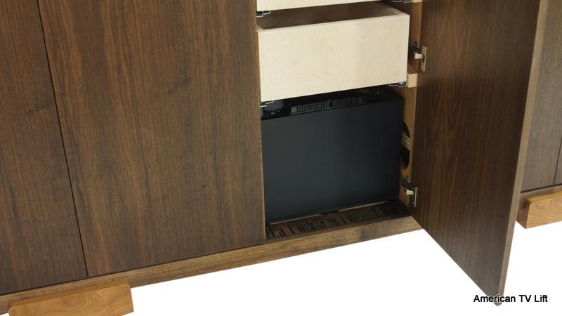 modern park city tv lift dresser