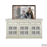 Traditional Nantucket TV Lift Cabinet