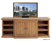 Rustic Ridgeline Tv Lift Cabinet