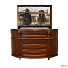 Traditional Pillar TV Lift Cabinet