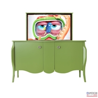 Traditional Scroll TV Lift Cabinet