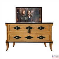 Transitional Diamond TV Lift Cabinet